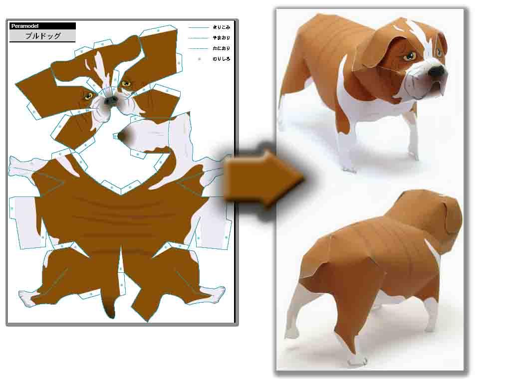 Объемные фигурки животных из бумаги